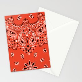 red bandana Stationery Cards