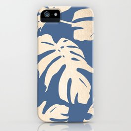 Simply Tropical Palm Leaves White Gold Sands on Aegean Blue iPhone Case
