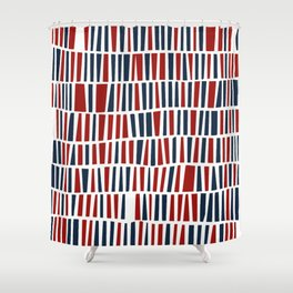 Patriotic red and blue Shower Curtain