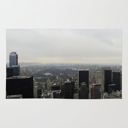 Grey Clouds over Central Park, NYC Rug