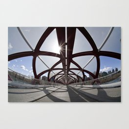 Calgary Peace Bridge; great Architecture Canvas Print