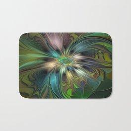 Colorful Abstract Fractal Art Bath Mat