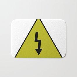 electric current danger signal Bath Mat