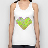 valentines Tank Tops featuring Neon Valentines by Fimbis