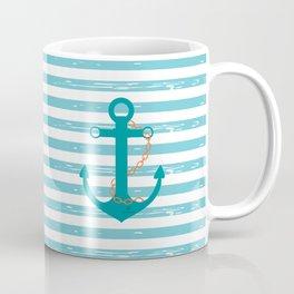 AFE Nautical Teal Ship Anchor Coffee Mug