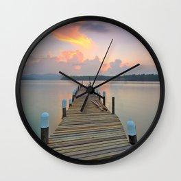 Dock Days Wall Clock