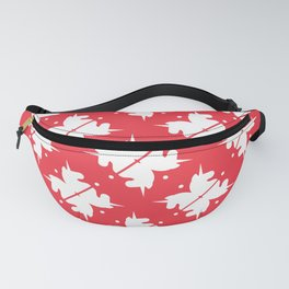 Bright Unicorn Icon Abstract Shape Pattern in Cherry and White Fanny Pack