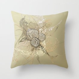 50 Shades of lace Gold Gold Throw Pillow