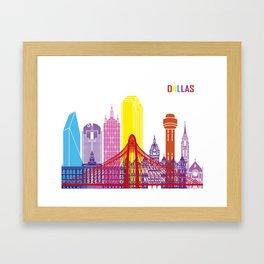 Dallas skyline pop Framed Art Print