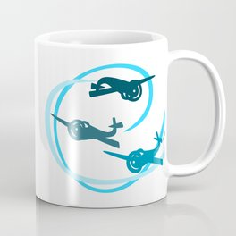 Blue Aerobatic Planes Coffee Mug
