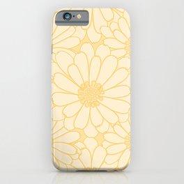 Common Marigold Flower Pattern iPhone Case