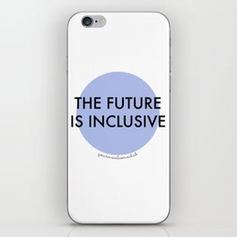 The Future Is Inclusive - Blue iPhone Skin