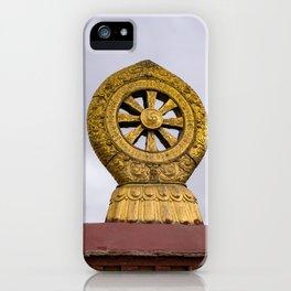 Tibet: Rooftop Dharma wheel iPhone Case