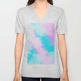 Aqua Blue Pink Unicorn Clouds #1 #decor #art #society6 Unisex V-Neck
