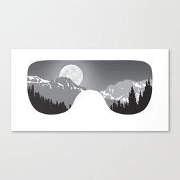 Moonrise Goggles - B+W - White Frame | Goggle Designs | DopeyArt Canvas Print