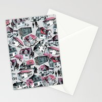 Danish small town pattern Stationery Cards