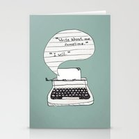 the perks of being a wallflower Stationery Cards featuring PERKS OF BEING A WALLFLOWER. by Sarah Brust