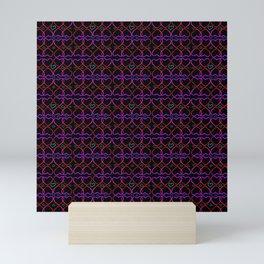 Pink and purple heart Mini Art Print