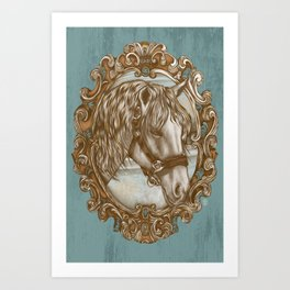 Ornate Horse Portrait Art Print