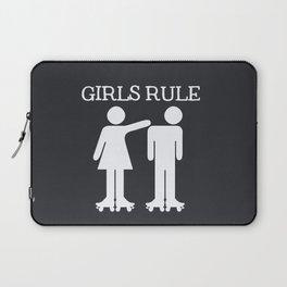 Girls Ruler Roller Derby Laptop Sleeve