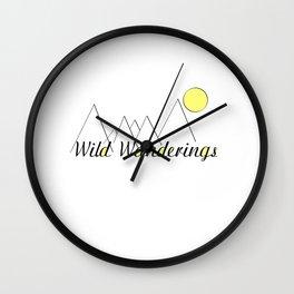 Wild Wanderings Wall Clock