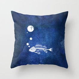 Fishing Future Throw Pillow