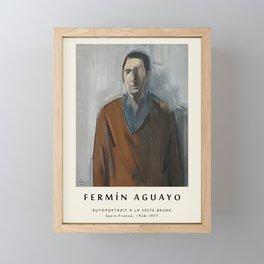 Poster-Fermin Aguayo-Autoportrait a la veste brune. Framed Mini Art Print