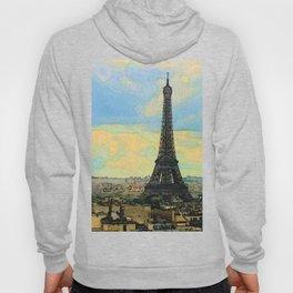 Watercolor Dream of Paris Hoody