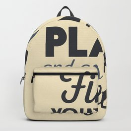Wanderlust, find your happy place and go there, motivational quote, adventure, globetrotter Backpack