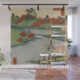 Summer Garden Ukiyo-e Japanese Art Wall Mural