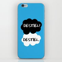 destiel iPhone & iPod Skins featuring Destiel - TFIOS by downeymore