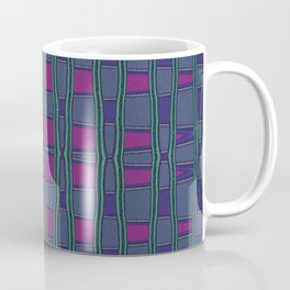 Green, Red and Purple Square Geometric Coffee Mug