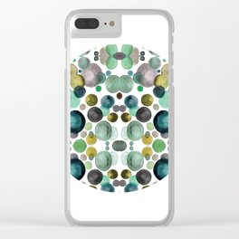 Jade in circle Clear iPhone Case