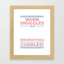 Hungarian Vizsla Ugly Christmas Sweaters Framed Art Print
