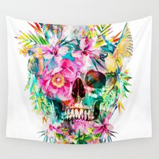 Tropical Skull Wall Tapestry
