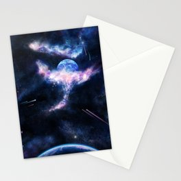 Space Scene Zero One Stationery Cards