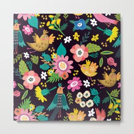 The floral floresta Metal Print