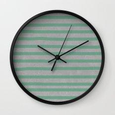 Concrete & Stripes Wall Clock