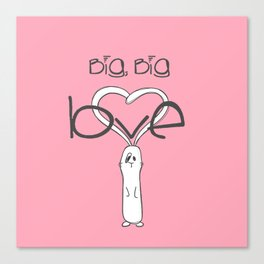 Big, big LOVE Canvas Print