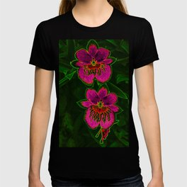 Hot Pink Tropic Orchids T-shirt