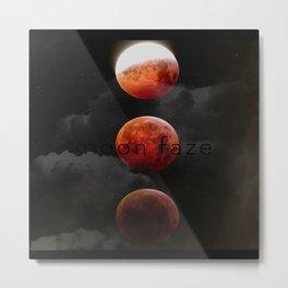 Moon faze black sky Metal Print