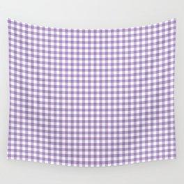 Geometric modern violet white checker stripes pattern Wall Tapestry