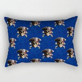 Jolly Roger In Pirate Hat Rectangular Pillow