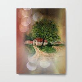 Retro: My little home -2- Metal Print