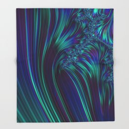CRASH vivid jewel tones of sapphire blue & emerald green Throw Blanket