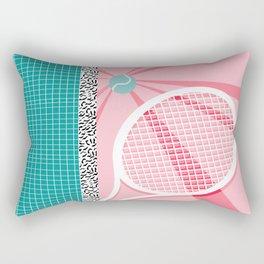 Boo Ya - tennis full court racquet palm springs resort sports vacation athlete pop art 1980s neon  Rectangular Pillow