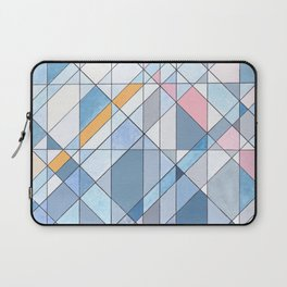 Triangle Pattern no.17 Light Blues Laptop Sleeve