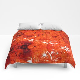 Red Abstract Art - Linked - By Sharon Cummings Comforters