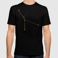 Cancer x Astrology x Zodiac Mens Fitted Tee LARGE Black