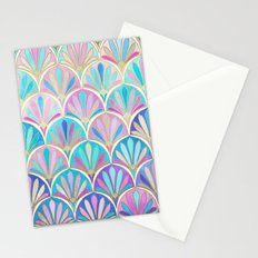Glamorous Twenties Art Deco Pastel Pattern Stationery Cards